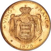 20 Francs - Charles III – reverse