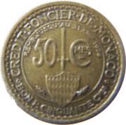 50 Centimes - Louis II – reverse