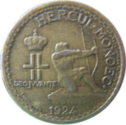 50 Centimes - Louis II – obverse