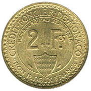2 Francs - Louis II – reverse