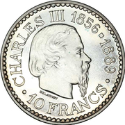 10 francs Charles III (Essai) – reverse