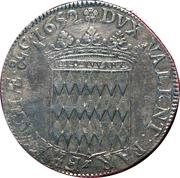 1 Ecu de 3 livres ou 60 sols Honoré II de Monaco – reverse