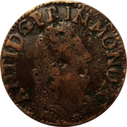 Liard de 4 deniers (denari) Antoine 1er de Monaco – obverse
