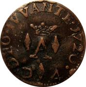 Liard de 4 deniers (denari) Antoine 1er de Monaco – reverse