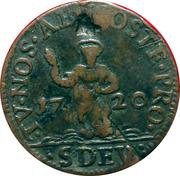 Dardenna ou 8 deniers (denari) St Dévote – reverse