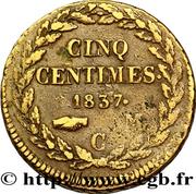 5 Centimes - Honoré V (large head) – reverse