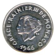 10 Francs - Rainier III (10th Wedding Anniversary; Medallic Coinage) -  obverse