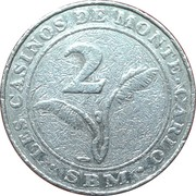 2 Francs - Casino de Monte Carlo – reverse