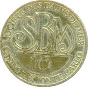 10 Francs - Casino de Monte Carlo (SBM) – reverse