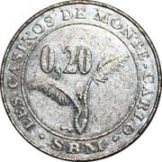 20 Centimes - Casino de Monte-Carlo – reverse
