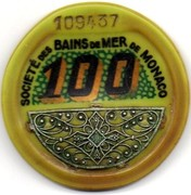 100 Francs - Casino de Monte Carlo (with filigree silver) – obverse