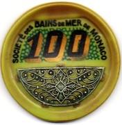 100 Francs - Casino de Monte Carlo (with filigree silver) – reverse