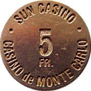 5 Francs - Sun Casino – obverse