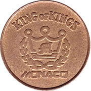 Game Token - King of Kings (Monaco) – reverse