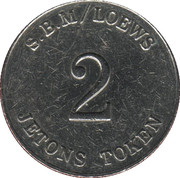 2 Francs - Casino S.B.M / Loews Monte-Carlo – reverse