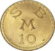 10 Francs - Cercle Des Etrangers – reverse