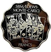 100 Francs - SBM/Loews Monte-Carlo Casino – obverse