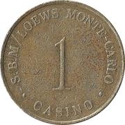1 Franc - Casino S.B.M / Loews Monte-Carlo – reverse