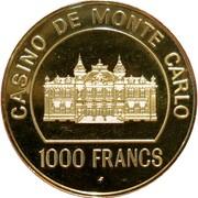 1000 Francs - Casino de Monte Carlo – obverse