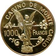 1000 Francs - Casino de Monte Carlo – reverse