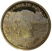 Token - Souvenirs et Patrimoine (Le rocher de Monaco; silver) – obverse