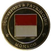 Token - Souvenirs et Patrimoine (Le rocher de Monaco; silver) – reverse