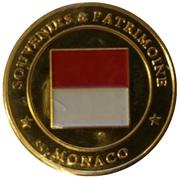 Token - Souvenirs et Patrimoine (Le rocher de Monaco; gold) – reverse