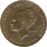 10 Francs - Rainier III (Princess Grace) – obverse