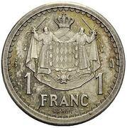 1 Franc - Louis II (Essai) – reverse