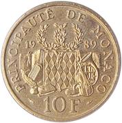 10 Francs - Rainier III (Prince Pierre Foundation) – reverse