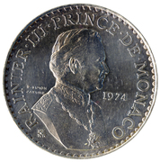 50 Francs - Rainier III (Anniversary of Reign) – obverse