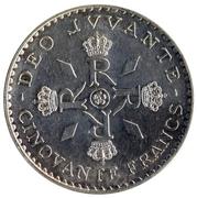 50 Francs - Rainier III (Anniversary of Reign) – reverse
