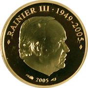 10 Euro - Albert II (Death of Rainier III) – obverse