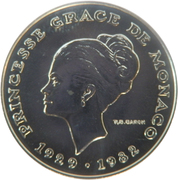 10 Francs - Rainier III (Princess Grace - Essai) – obverse