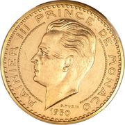 20 Francs - Rainier III (Essai) – obverse