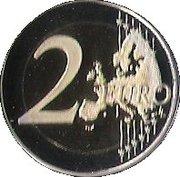 2 Euro - Albert II (Lucien Grimaldi I) – reverse
