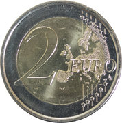2 Euro - Albert II (2nd map) -  reverse