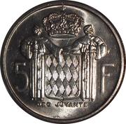 5 Francs - Rainier III – reverse