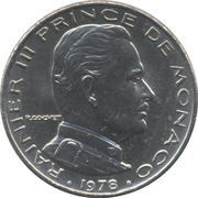 ½ Franc - Rainier III – obverse