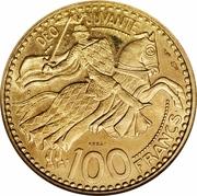 100 Francs - Rainier III (Essai) – reverse