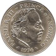 5 Francs - Rainier III – obverse