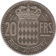 20 Francs - Rainier III (Essai) – reverse