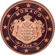 1 Euro Cent - Albert II (2nd type) – obverse