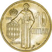 10 Centimes - Rainier III – reverse