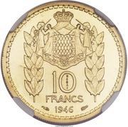10 Francs - Louis II (Essai) – reverse