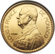 20 Francs - Louis II (Essai) – obverse