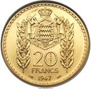 20 Francs - Louis II (Essai) – reverse
