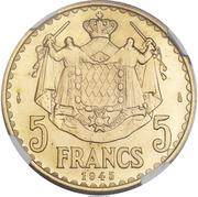 5 Francs - Louis II (Essai) – reverse