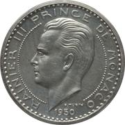 50 Francs - Rainier III (Piedfort Essai) – obverse