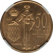 50 Centimes - Rainier III (Essai) – reverse